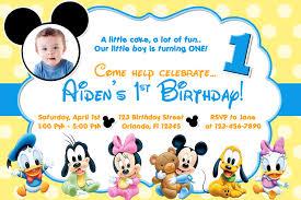 mickey mouse 1st birthday party invitations iidaemilia com