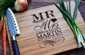 cutting board wedding gift personalized cutting board mr and mrs engraved