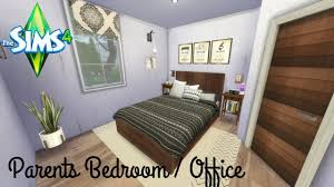 the sims 4 parents bedroom office speed build youtube