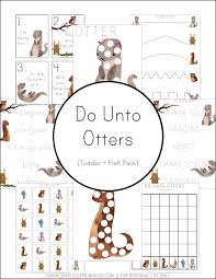 do unto otters preschool pack simply learning
