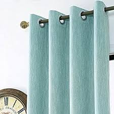 Drapes With Grommets Amazon Com Mysky Home Solid Grommet Top Thermal Insulated Window
