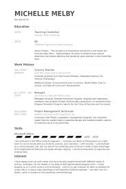exles of resumes for teachers science resume template exle template