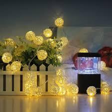 amazon com innoolight 40 rattan ball string lights leds