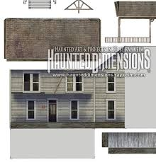 horror house paper models now available for free halloween