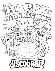 discobratz thanksgiving coloring celebrates togetherness