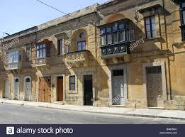 residential houses in victoria rabat gozo island malta stock