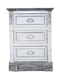 charles bentley white shabby chic vintage french style bedside