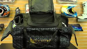fox motocross gear bags answer racing rockstar large gear bag review chapmoto com youtube
