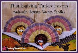 ferrero rocher turkey favors for thanksgiving dinner creatively