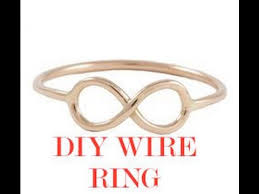 make wire rings images How to make a wire ring diy infinity rings tutorial jpg