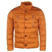 lee cooper mens zip down jacket coat top high neck winter warm ebay