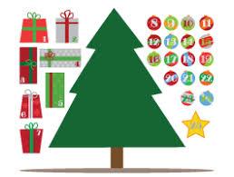 christmas calendar christmas tree advent calendar decal dezign with a z