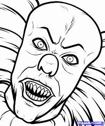 scary clown printable coloring pages kids coloring