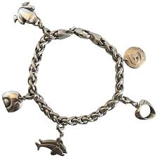 bracelet with charms images Georg jensen sterling silver charm bracelet with charms at 1stdibs jpg