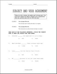 subject verb agreement upper elem worksheets i abcteach com