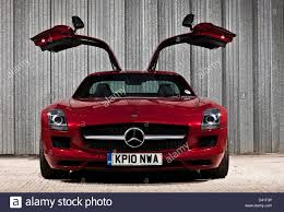 car mercedes red red mercedes benz sls amg luxury car with wing doors winchester