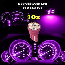 dashboard led light bulbs partsam 10x pink purple instrument speedometer cluster t10 168 4 smd