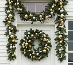 indoor outdoor ornament pine gold silver decor pottery barn