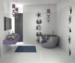 theme for bathroom interior fantastic purple theme bathroom designs with one