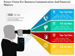 templates for business communication future vision for business communication and financial matters flat