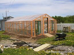 Backyard Green House Build Garden Greenhouse With Soil Sink Diy Plan Heater And
