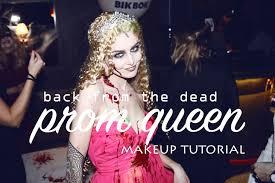 prom queen u0027back from the dead u0027 halloween makeup tutorial youtube