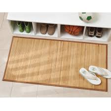 Bamboo Floors In Bathroom Amazon Com Interdesign Bamboo Floor Mat U2013 Ideal Mat For Kitchens