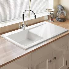 Exellent White Kitchen Sink   Bowl Traditional Ceramic Waste - Ceramic white kitchen sink