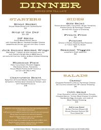 menus doug fir lounge