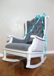 Upholstered Nursery Rocking Chair Glider Chair Slipcover Upholstered Glider Rocker For Nursery