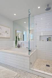 White Subway Tile Bathroom Ideas Large Hexagon Tiles Bathroom Floor Decoration