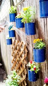 backyard tin can fence garden backyard gardens and fenced garden