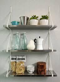 kitchen fresh stainless steel kitchen wall shelves decorating