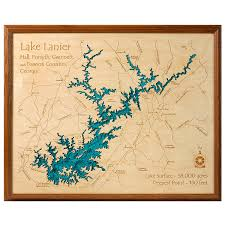 Us Map Topography Lake Topography Art Hand Crafted Lake Map Topography Art