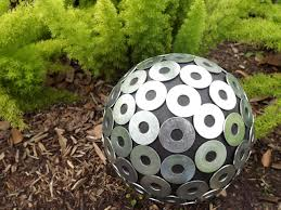 Copper Gazing Ball How To Make A Colorful Birdbath Hgtv