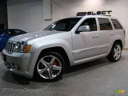 2010 jeep grand cherokee srt8 4x4 in bright silver metallic photo