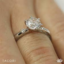 2 engagement rings tacori 56 2 rd sculpted crescent classic 3 engagement ring