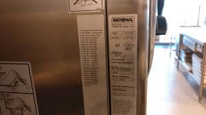 commercial oven rational cm61 gives an error code e6 won u0027t