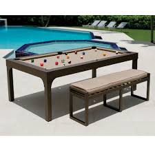 Pool Table Dining Room Table by The Outdoor Billiards To Dining Table Hammacher Schlemmer