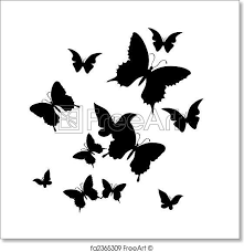 free print of the butterfly vector illustration silhouette