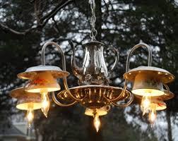 Tea Cup Chandelier 156 Best Tea Cup Craft Ideas Images On Pinterest Diy Garden Art