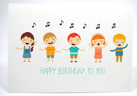 happy birthday card kids singing happy birthday hbc169 mum