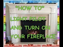 Fireplace Igniter Switch by Pilot Light How To Light A Fireplace Natural Gas Propane Youtube
