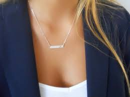 personalized silver bar necklace silver personalized bar necklace cut out letter initial bar