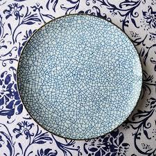 Decorative Hanging Plates Designer Personality Design Japanese Style Simple Blue Line