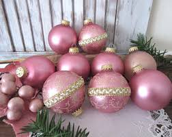 pink ornaments etsy