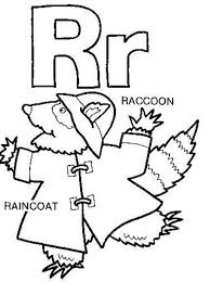 raincoat raccoon free alphabet coloring pages alphabet coloring