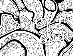 mature coloring pages son of a coloring page color u0026 swear blackout