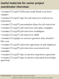 Project Coordinator Resume Examples Top 8 Senior Project Coordinator Resume Samples