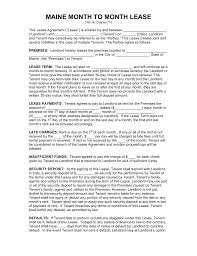 sle eviction notice maine free maine month to month rental agreement template pdf word